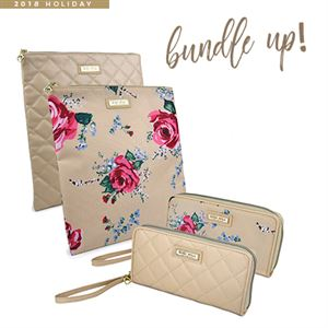 Picture of USYG0222 – Gigi Hill Bundle 2 - 2 Rita and 2 Large Scarlett - (1) Antique Floral (1) Quilted Tan